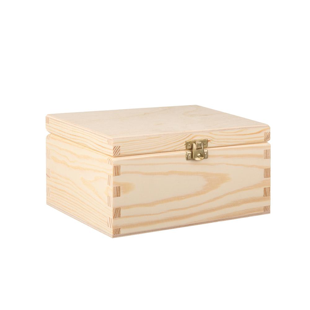 Dřevěná krabička 21.5x14x10 cm