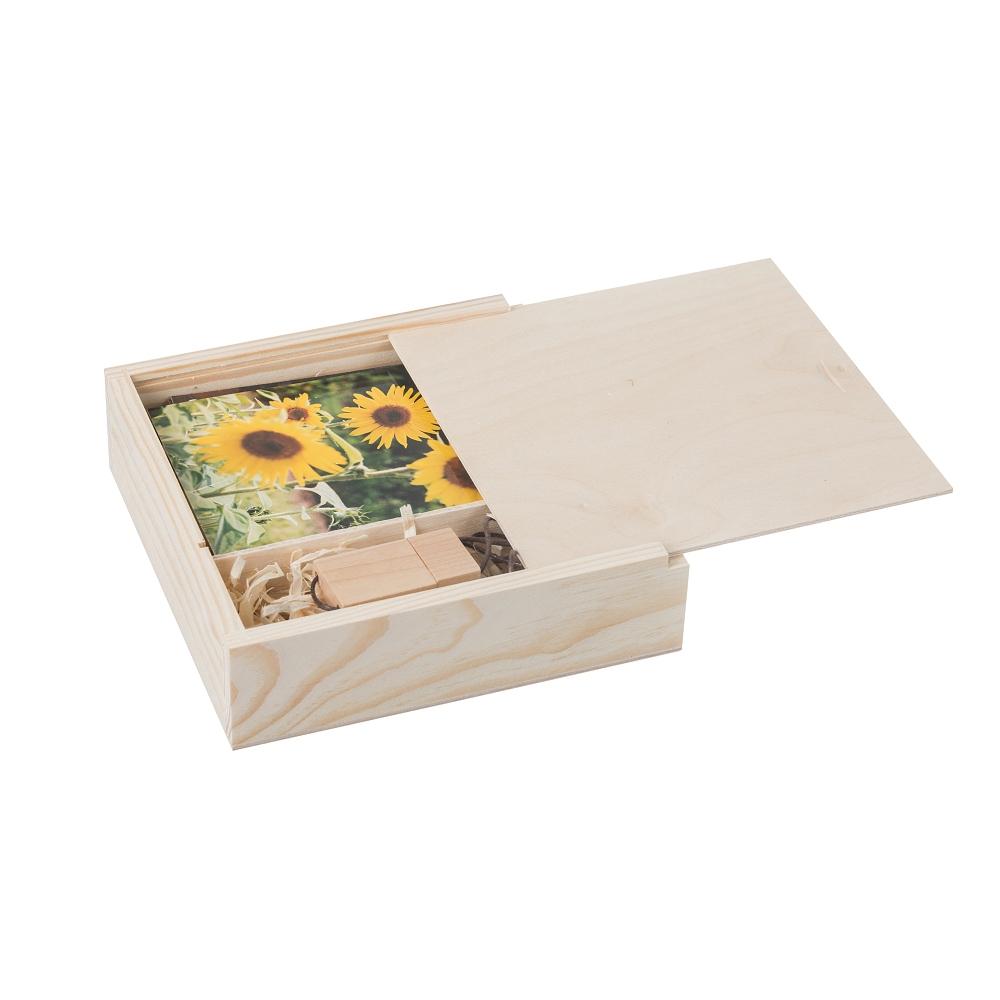 Dřevěná krabička na fotografie